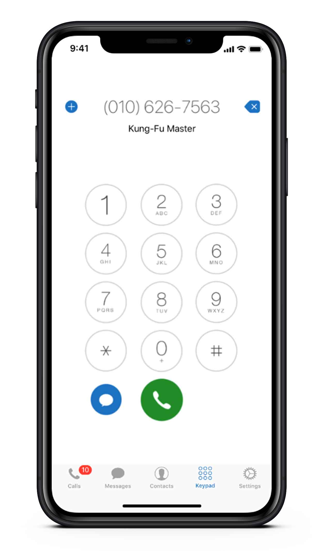 Calls and Texts to any phone numbers image - screen on mobile phone
